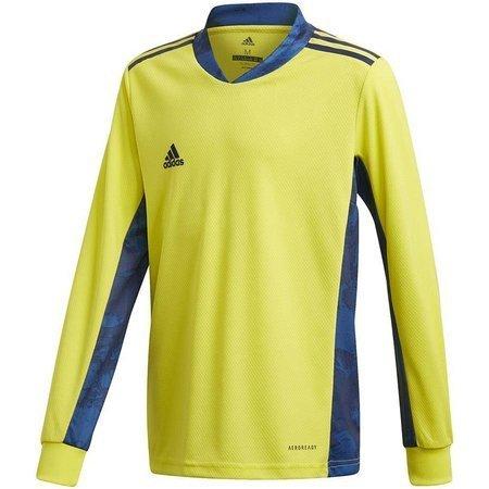 Bluza bramkarska dla dzieci adidas AdiPro 20 Goalkeeper Jersey Youth Longsleeve żółto-niebieska FI4199