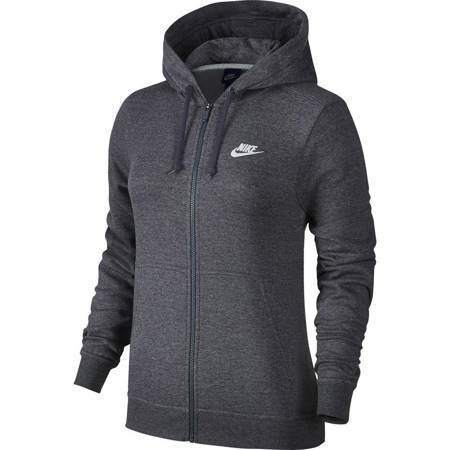 Bluza damska Nike Hoodie FZ FLC szara 853930 071