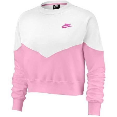 Bluza damska Nike NSW Heritage Crew Fleece Women różowo-biała AR2505 629