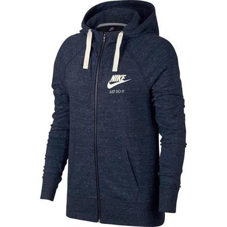 Bluza damska Nike W Gym Vintage Hoodie FZ niebieska 883729 451