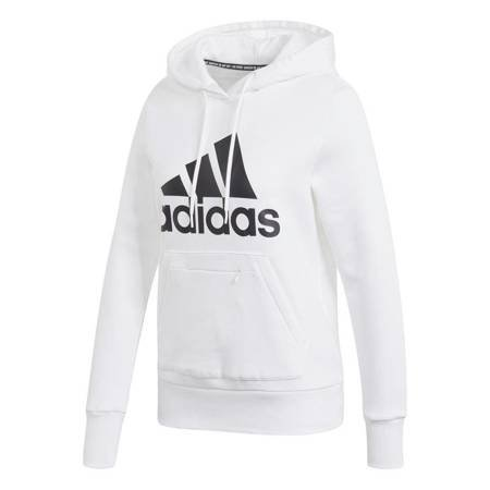 Bluza damska adidas Badge of Sport Overhead Fleece Hoodie biała GC6916