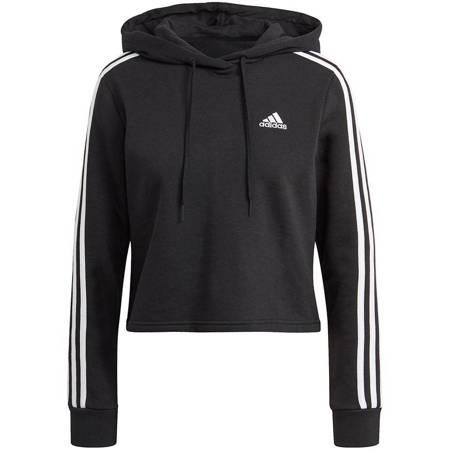 Bluza damska adidas Essentials 3-Stripes czarna GM5582
