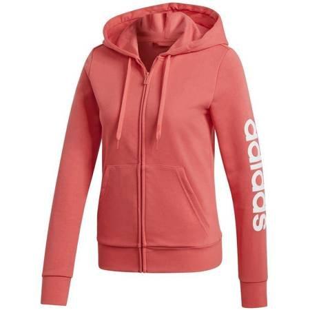 Bluza damska adidas Essentials Linear FZ HD różowa DU0652