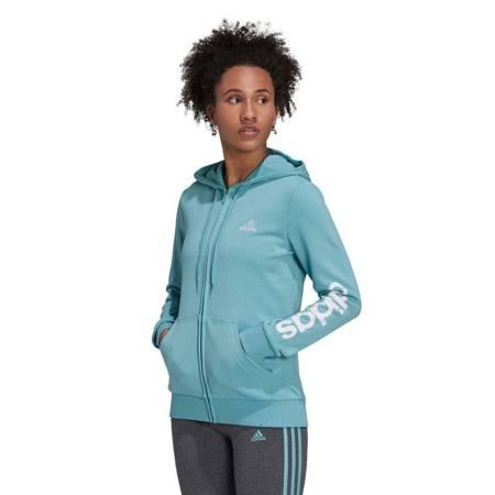 Bluza damska adidas Essentials Logo niebieska H07751
