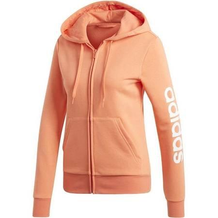 Bluza damska adidas W Essentials Linear FZ Hoodie koralowa EI0659