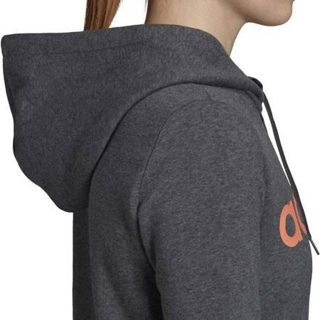 Bluza damska adidas W Essentials Linear OH HD FL szara EI0670
