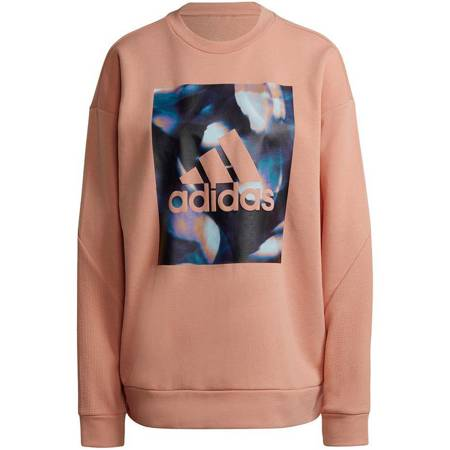 Bluza damska adidas Youforyou Sweatshirt morelowa HA2431