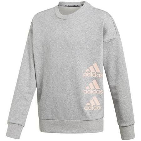 Bluza dla dzieci adidas Jg Mh Crew szara GK3237