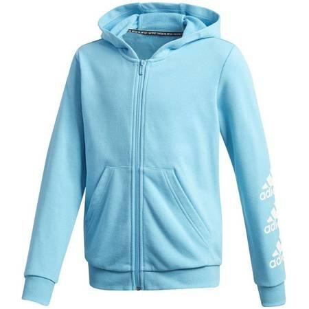 Bluza dla dzieci adidas Must Haves Bos Full Zip Hoodies niebieska  GE0943