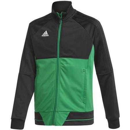 Bluza dla dzieci adidas Tiro 17 Polyester Jacket JUNIOR czarno-zielona BQ2613