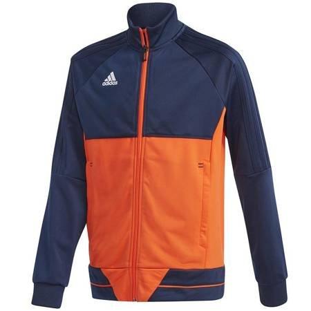 Bluza dla dzieci adidas Tiro 17 Polyester Jacket JUNIOR granatowo-pomarańczowa BQ2614