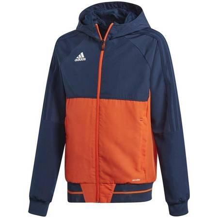 Bluza dla dzieci adidas Tiro 17 Presentation Jacket JUNIOR granatowo-pomarańczowa BQ2790