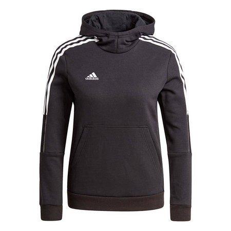 Bluza dla dzieci adidas Tiro 21 Sweat Hoody czarna GM7326