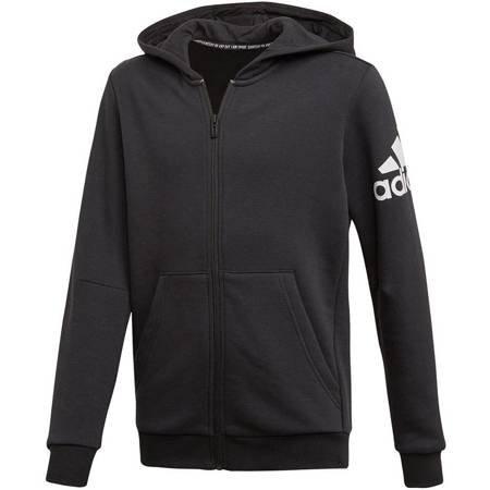 Bluza dla dzieci adidas YB MH Bos FZ FL czarna ED6481