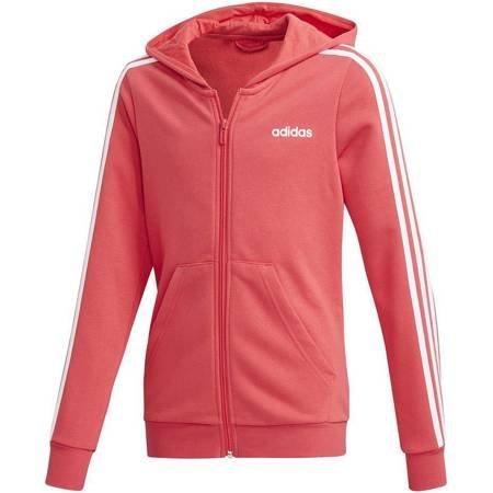 Bluza dla dzieci adidas YG Essentials 3S FZ HD różowa FM6987