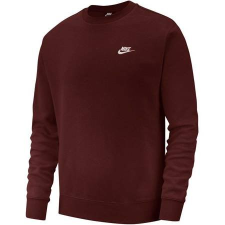 Bluza męska Nike Club Crew BB bordowa BV2662 233