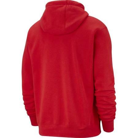 Bluza męska Nike NSW Club Hoodie czerwona BV2654 657