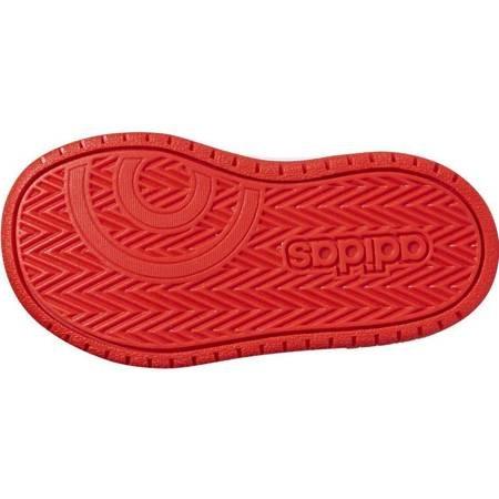 Buty dla dzieci adidas Hoops Mid 2.0 I czarno białe B75945