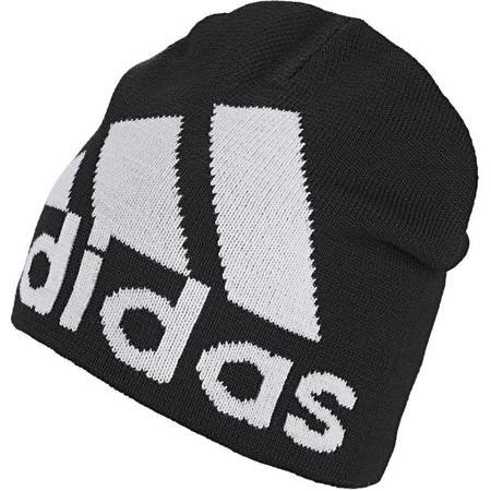 Czapka męska adidas Big Logo Beanie Climawarm OSFM czarno-biała DZ8940