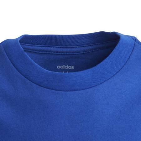 Koszulka dla dzieci adidas YB Essentials Linear Tee niebieska EI7990