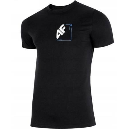 Koszulka męska 4F głęboka czerń H4L19 TSM003 20S