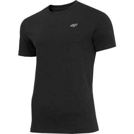 Koszulka męska 4F głęboka czerń H4Z19 TSM070 20S