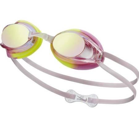 Okulary pływackie Nike Os Remora JR różowo żółte NESS6156-953