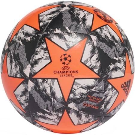Piłka nożna adidas Finale Manchester United Capitano szaro-pomarańczowa DY2538
