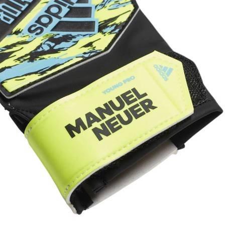 Rękawice bramkarskie adidas Predator YP Manuel Neuer JUNIOR  czarno żółto niebieskie DY2626