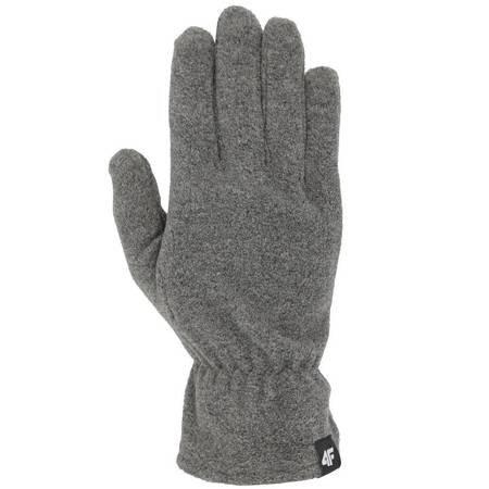 Rękawiczki zimowe 4F ciemny szary melanż H4Z19 REU001 23M