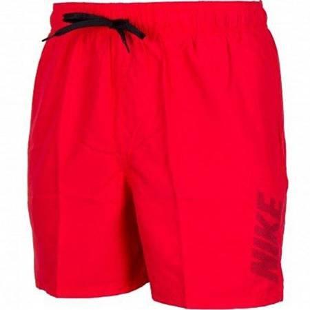Spodenki kąpielowe męskie Nike Logo Solid czerwone NESS9504 614