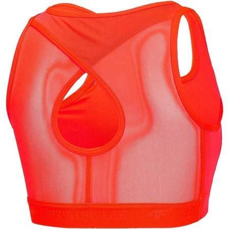 Stanik sportowy 4F pomarańczowy neon H4Z19 STAD001 70N