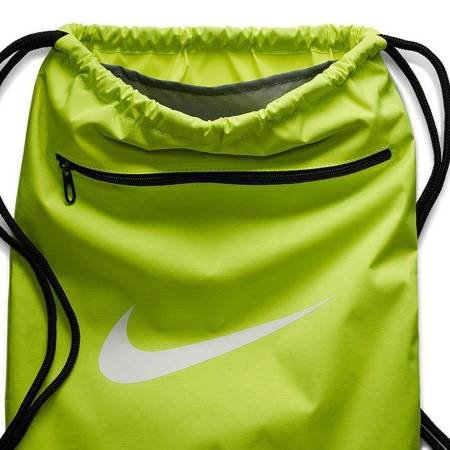 Worek na buty Nike Brasilia 9.0 limonkowy BA5953 702